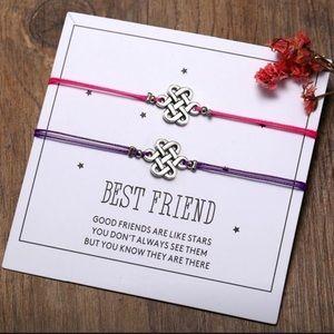 Friendship Bracelets with Inspirational Card.